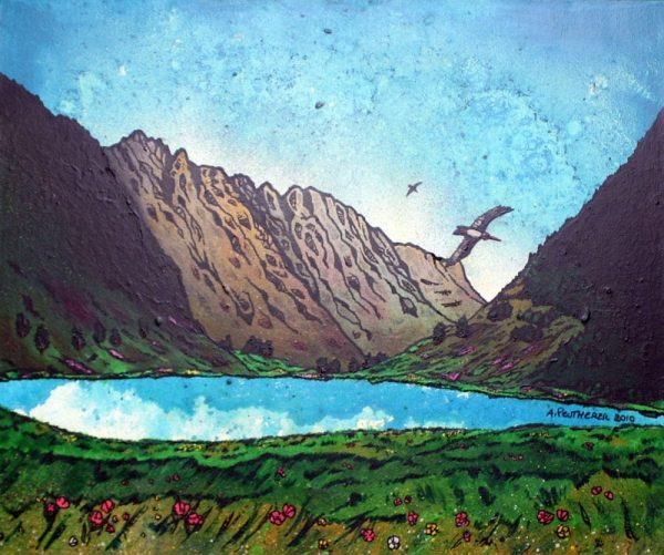 Glencoe Painting & Prints – The Aonach Eagach Ridge, Glencoe, Scotland.