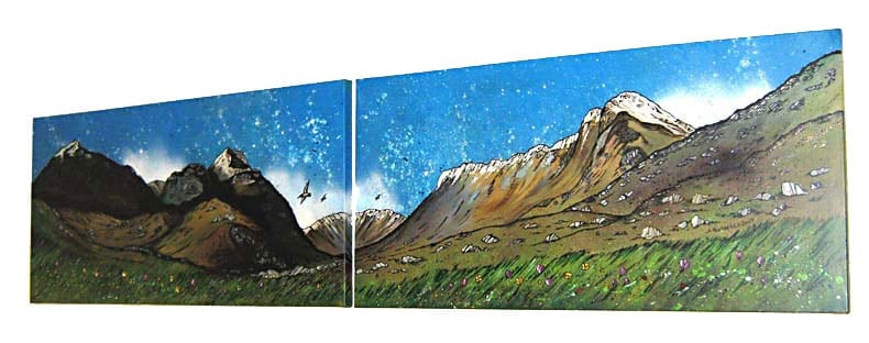 Commissioned Scottish landscape painting of Glen Coe and The Three Sisters, Scottish Highlands