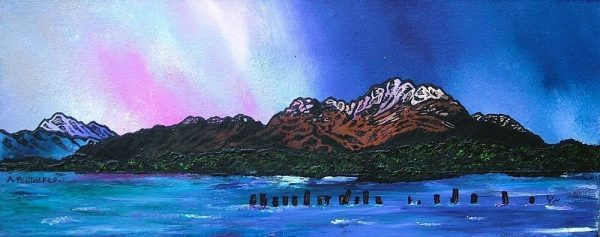 Paintings & Prints – Ben Lomond Winter Sky, Loch Lomond, Scottish Highlands.