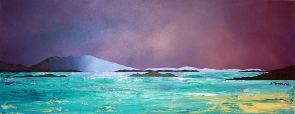 Argyll Paintings & Prints – Crinan Dusk, Argyll, Scotland