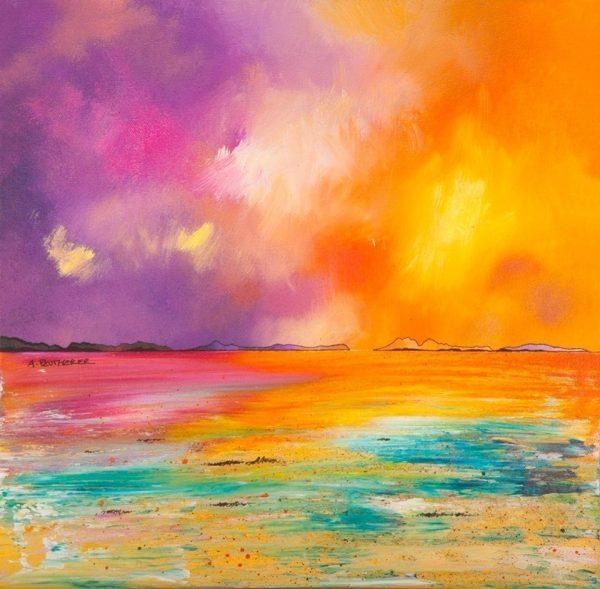 Paintings & Prints – Summer light over Camusdarach Beach, Arisaig, near Morar, Scotland.