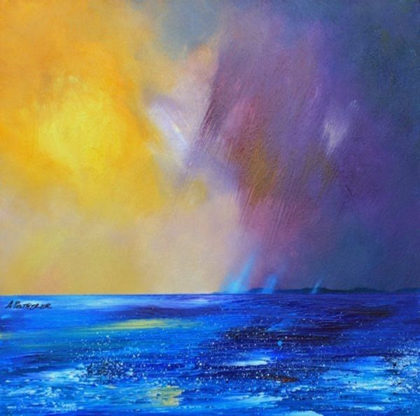Painting & Prints Of Tiree – Rising Storm Over Tiree, Hebrides, Scotland.