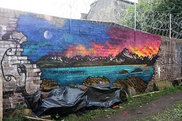 Isle of Skye Painting & graffiti mural – The Cuillin From Elgol, Isle of Skye.