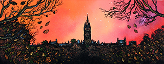 Paintings and prints of Glasgow by contemporary Scottish landscape artist A Peutherer