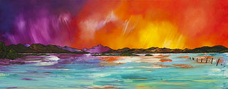 Paintings and prints Of Loch lomond and the Trossachs by Scottish landscape artist A Peutherer