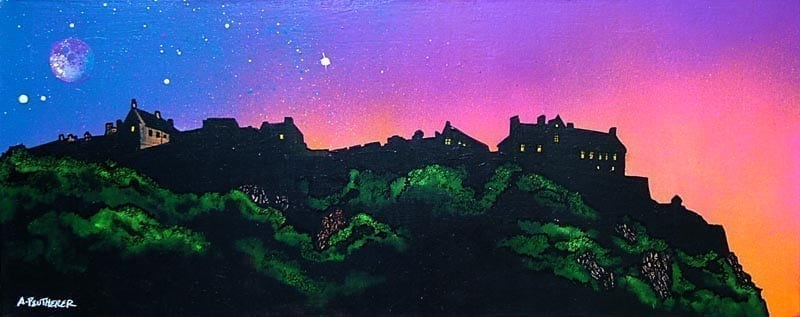 Painting and prints of Edinburgh Castle, Scotland