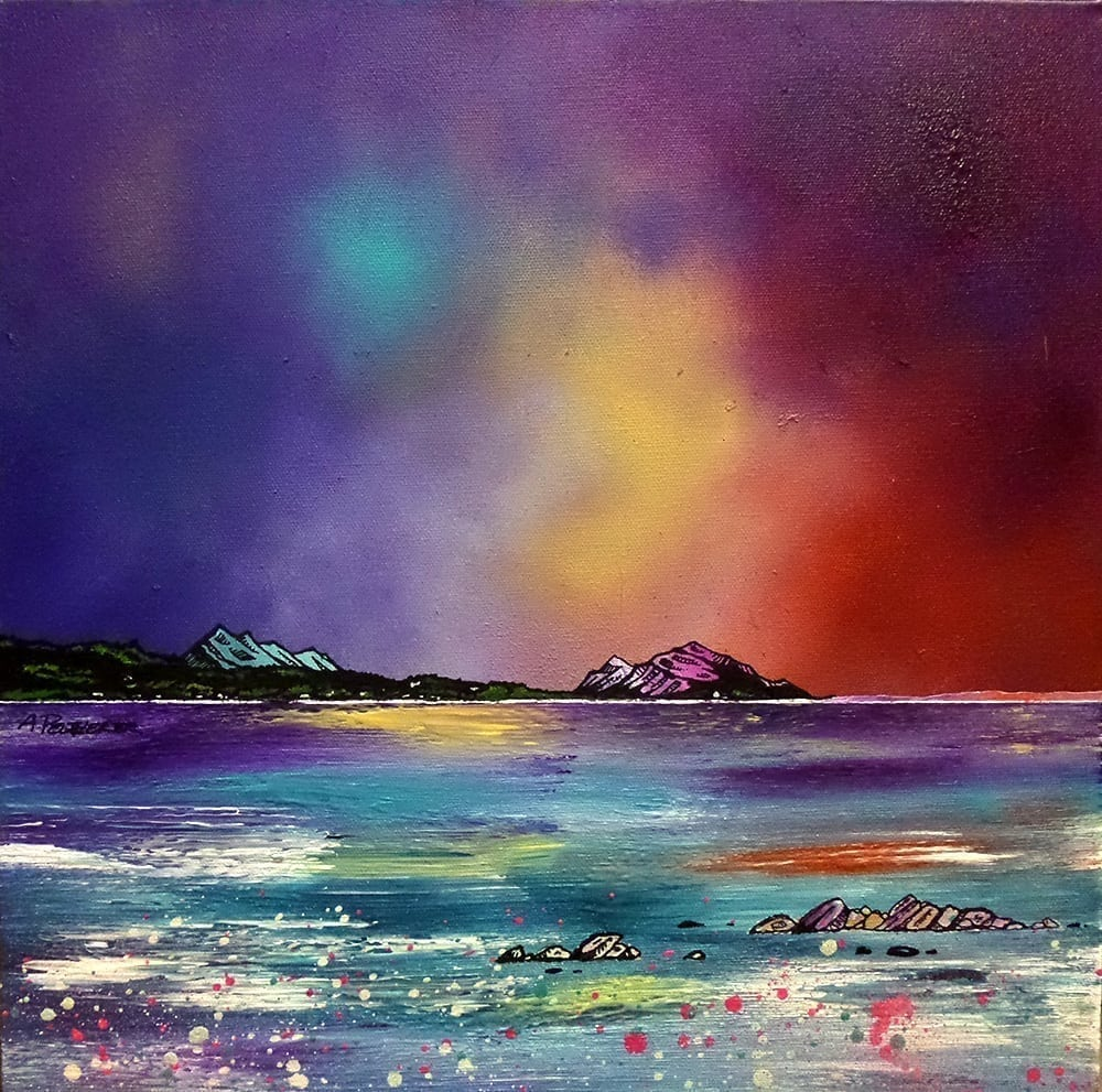 Painting & prints of Arran, Whiting Bay, Ayrshire, Scotland.