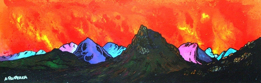 painting and prints of Buachaille Etive #Mor, Rannoch Mor, Glencoe and Glen Etive, Scotland.