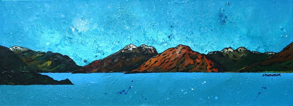 painting and prints of Garbh Bheinn across the Loch Linnhe, Argylle, Scottish Highlands.