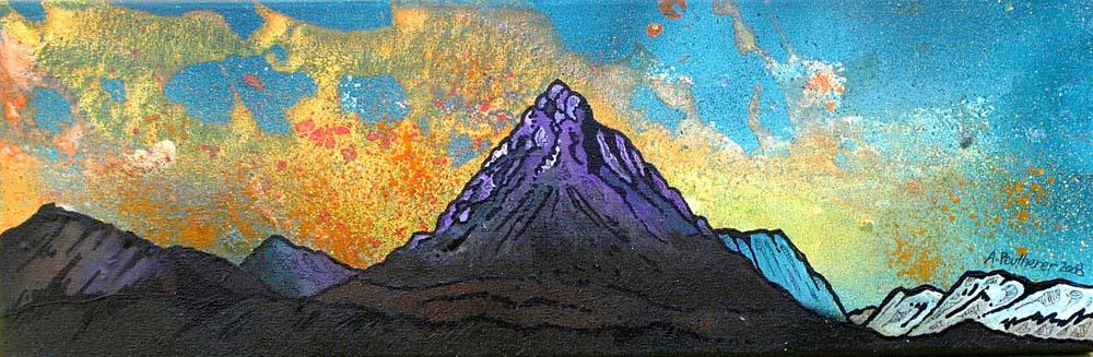 Painting and prints of Glencoe, Buachaille Etive Mor Autumn, Stob Dearg, Glen Etive, Scottish Highlands.