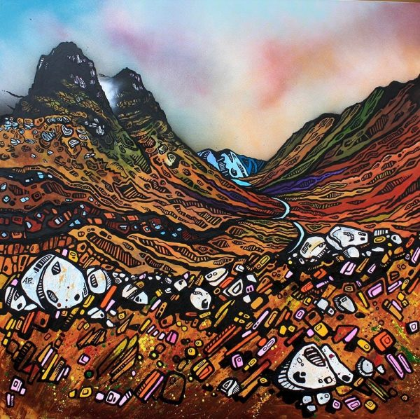 painting and prints of Glencoe & The Three Sisters, Highland, Scotland.