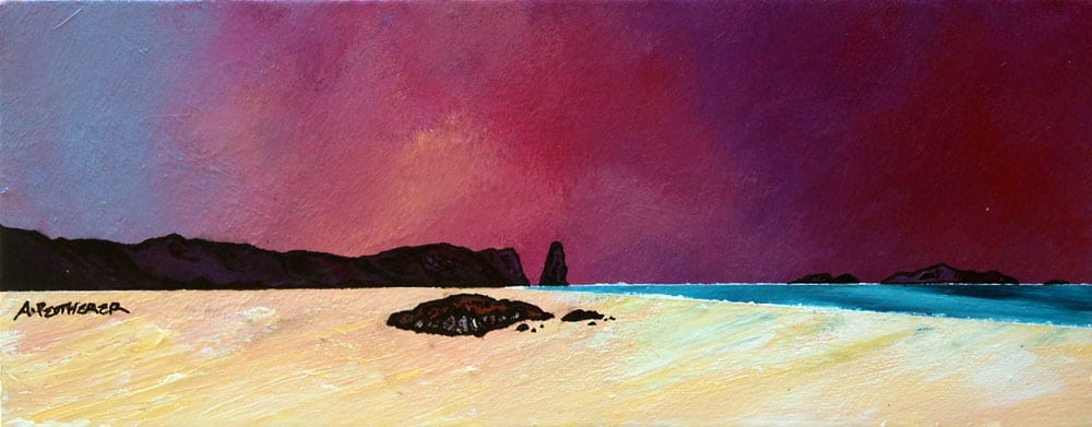 painting and prints of Sandwood Bay Summer Sky, Sutherland, Scotland.