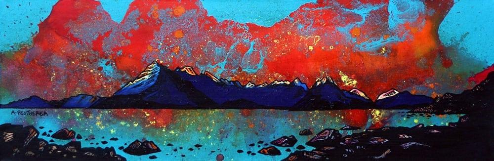 painting & prints of Elgol, The Cuillin, Loch Scavaig, Isle Of Skye, Inner Hebrides, Scotland.