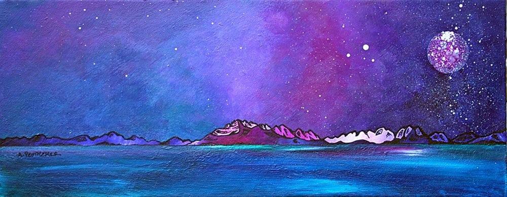 painting & prints of The Cuillin, Elgol, Loch Scavaig, Isle Of Skye, Inner Hebrides, Scotland.