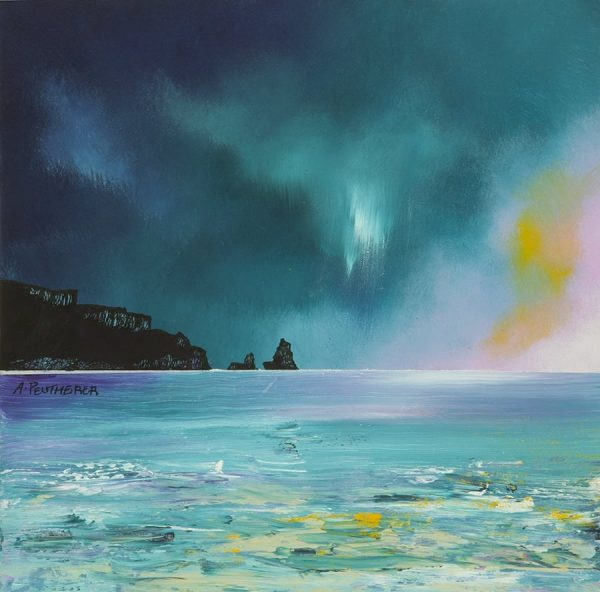 SKYE4 SQUARE – Isle of Skye, Storm Approaching Talisker Bay, Scotland