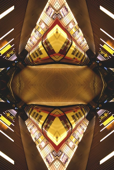 Glasgow Subway Photograph - Abstract art image