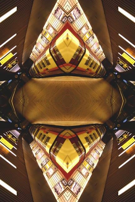 Glasgow Subway Photograph - Abstract art image