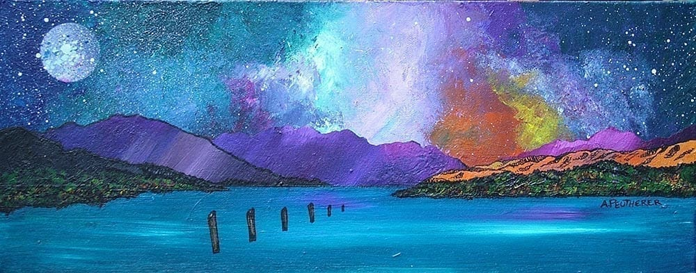 Commission of Loch Lomond Sunset From Luss, Scotland.