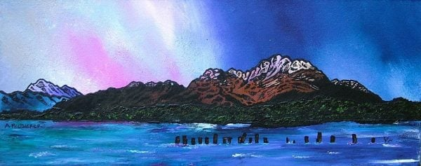 Commissioned Painting of Ben Lomond Winter Sky, Loch Lomond, Scottish Highlands.