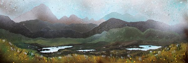 painting & prints of Airdhbruach, Towards Harris Hills, Isle Of Lewis, Scotland.