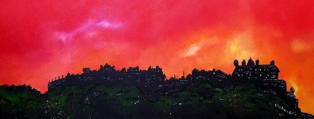 Edinburgh castle painting & art prints