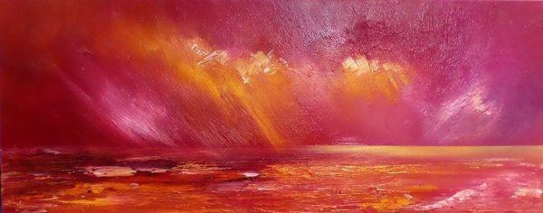 The Hebrides Painting & Prints – Breaking Light, Hebrides, Scotland.