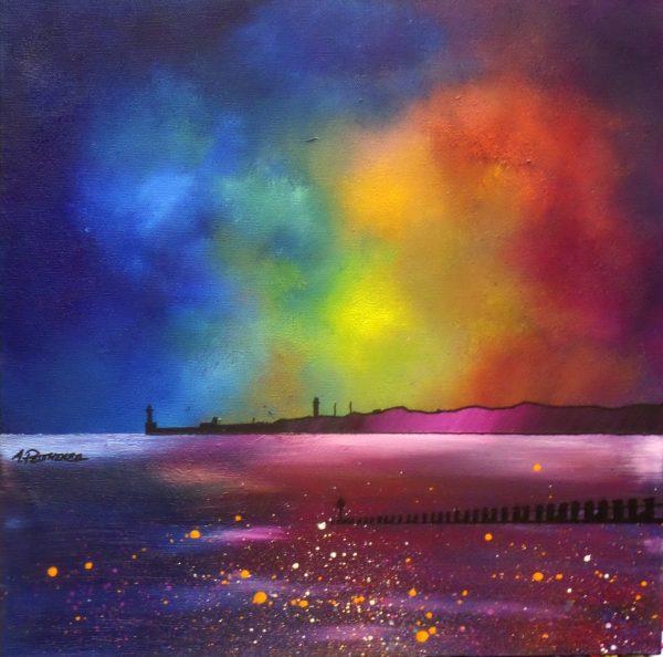 Aberdeen Painting & Prints – Aberdeen Beach Winter Glow, Scotland
