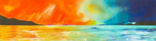 Jura Paintings & Prints – Isle of Jura Sunset, Tayvallich, Scotland.