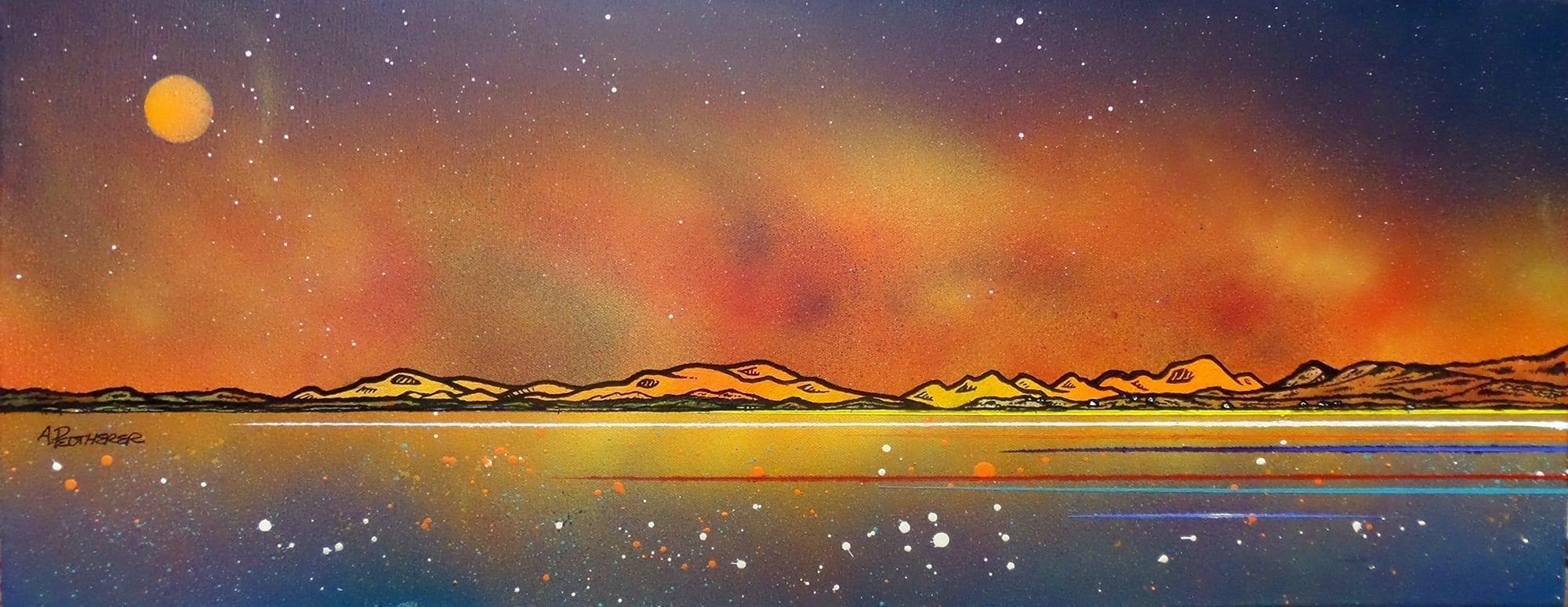 Paintings & prints of Seilebost Beach, Isle Of Harris, Hebrides, Scotland.