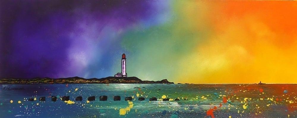 Painting & prints of Lossiemouth Beach, Moray, Scotland
