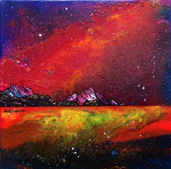 Paintings & prints of Arran – Whiting Bay Spring Tide, Arran, Ayrshire, Scotland.