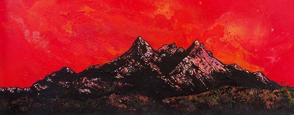 Sgurr nan Gillean, Sligachan, Skye, Scotland - Painting & Prints by Scottish Contemporary Landscape artist A.Peutherer.