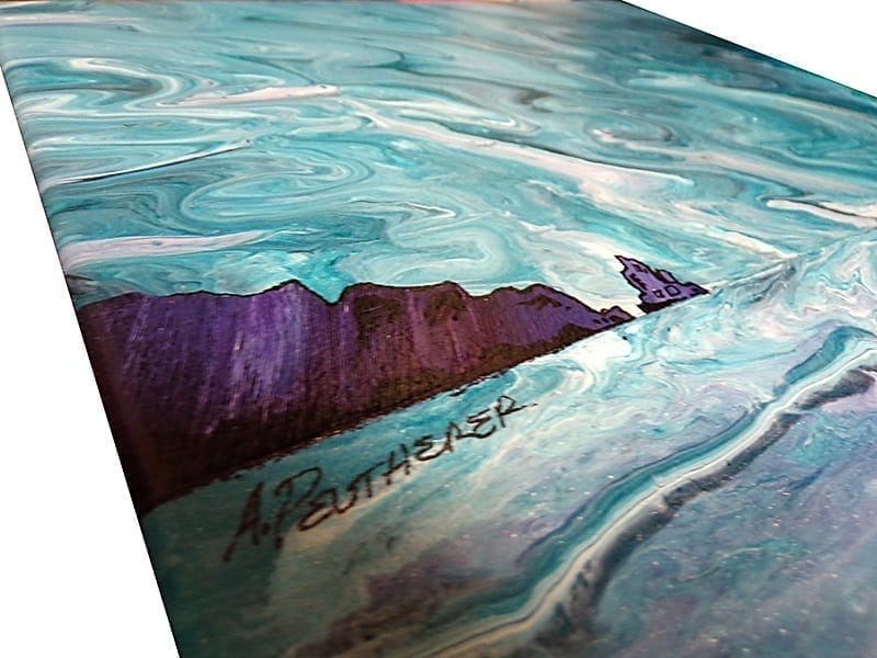 Painting and prints, Talisker Bay, Skye, Hebrides, Scotland