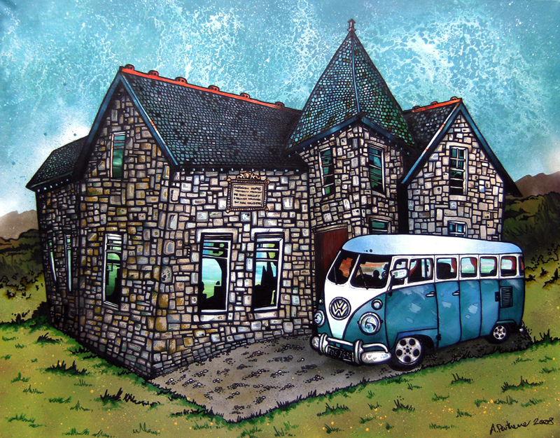 VW Camper Van - Commissioned Abstract Painting & Prints