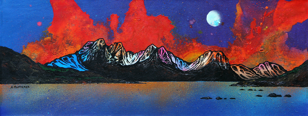 Painting & prints of Bla Bheinn, Isle Of Skye, Scotland.