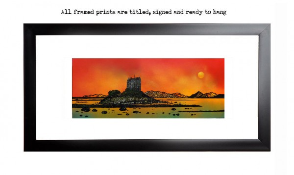 Castle Stalker print, Appin, Scottish Highlands.