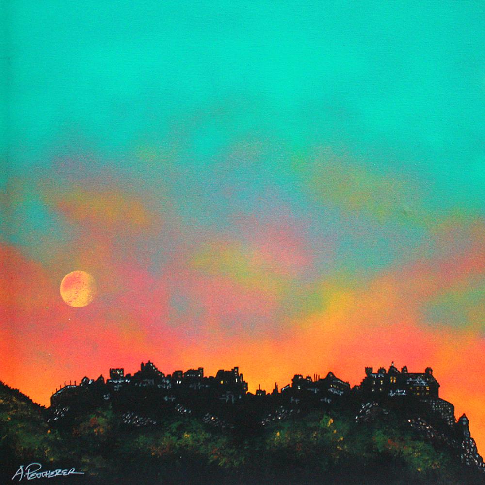 painting and prints of Edinburgh Castle, Scotland