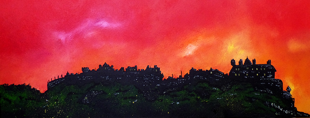Edinburgh castle painting & art prints