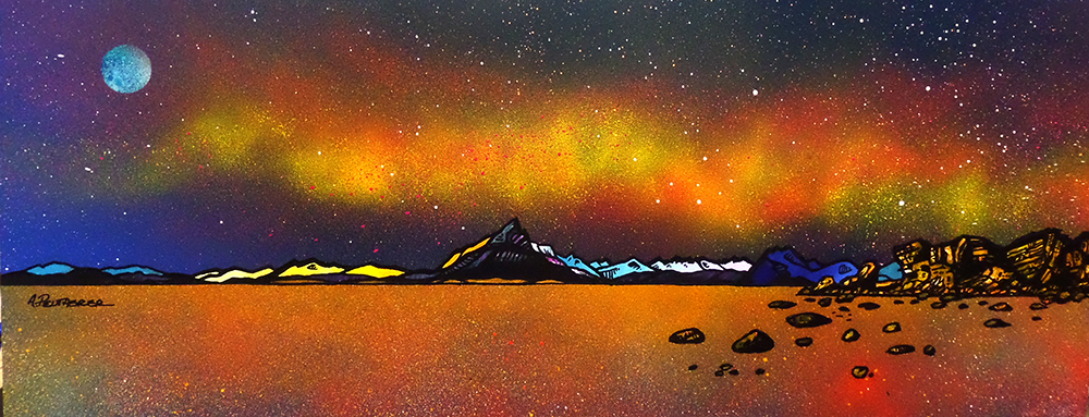 painting & prints of Skye. The Cuillin from Elgol Beach, Scotland