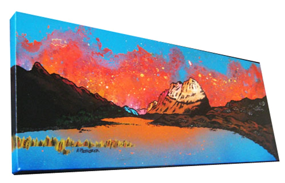 Scottish painting & prints of Liathach & loch Clair, Wester Ross, Scottish Highlands.