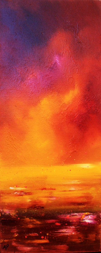 painting & prints of a Loch Ness Sunset, Highlands, Scotland.