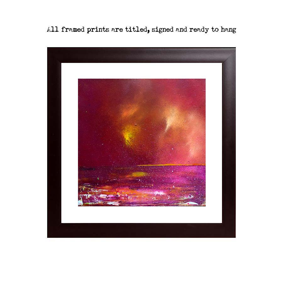 print of Loch Ness, Scottish highlands