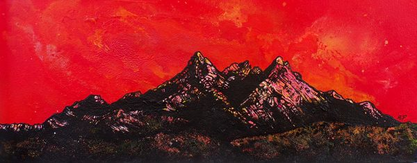 Sgurr nan Gillean, Sligachan, Skye, Scotland - Painting & Prints by Scottish Contemporary Landscape artist A.Peutherer.
