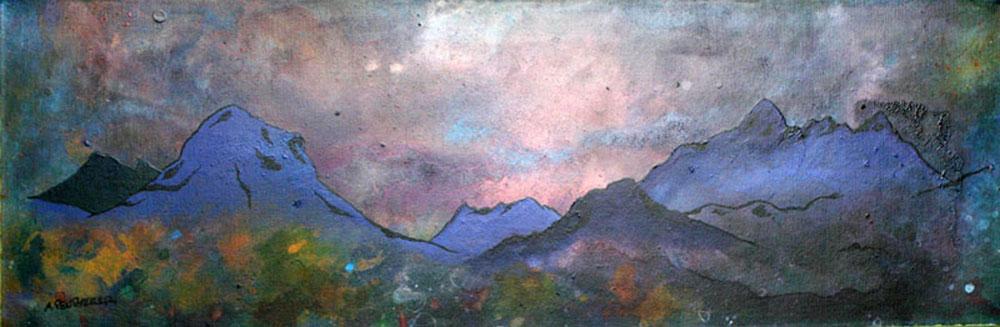Glen Sligachan painting & prints - Isle Of Skye, Scottish Inner Hebrides.