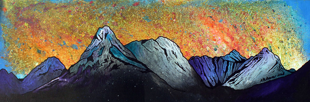 Painting & prints of Bla Bheinn, Isle of Skye, Scotland, Hebrides.