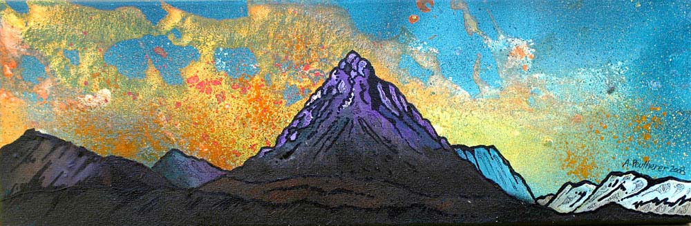 Paintings & prints of Glencoeand buachaille Etive Mor, Scottish Highlands.