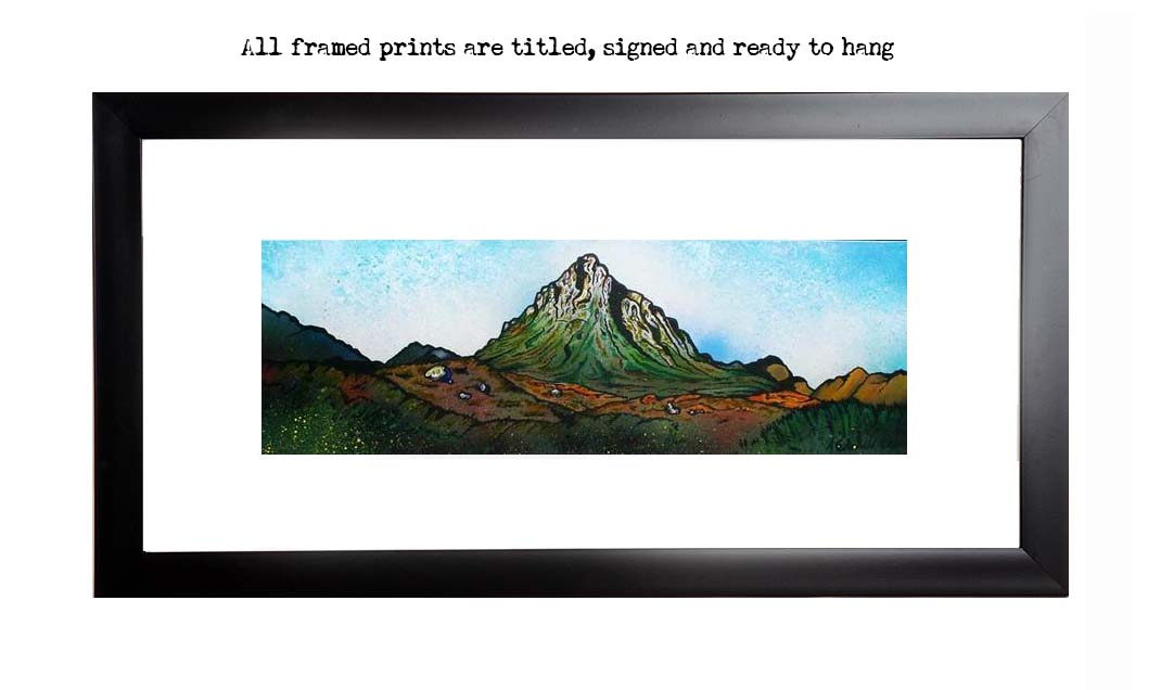 Framed print of Buachaille Etive Mor .1, Glen Etive, Glencoe, Scottish Highlands.