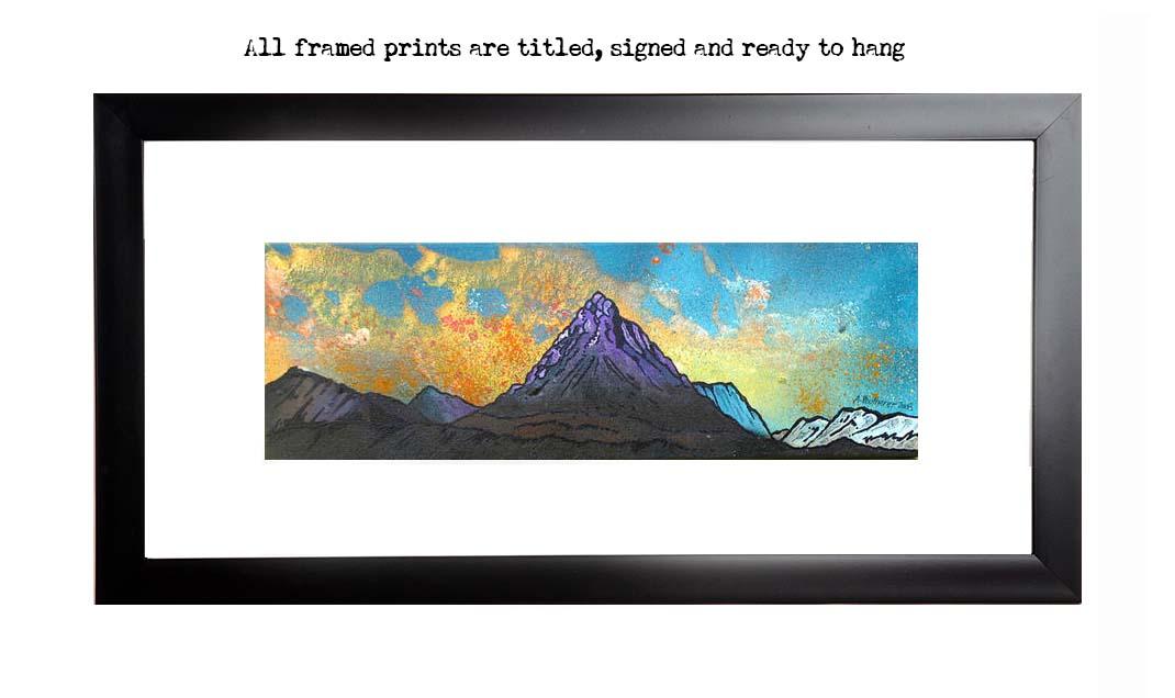 Framed prints of Buachaille Etive Mor Autumn Sunset, Glen Etive, Glencoe Scottish Highlands.