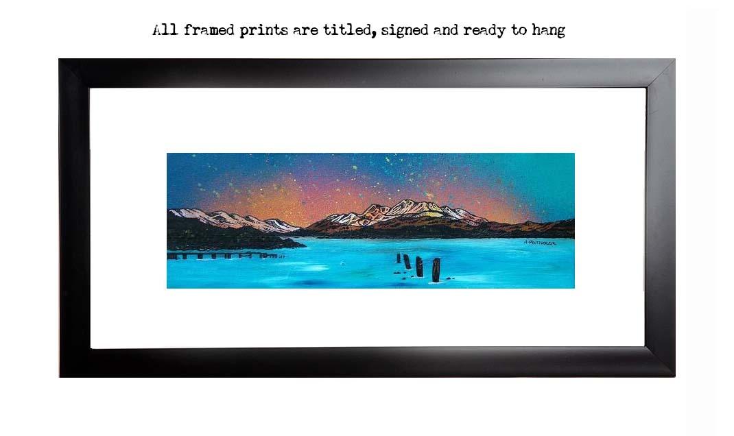 framed print of Ben Lomond from Cameron House Hotel, Loch Lomond, Scottish Highlands.