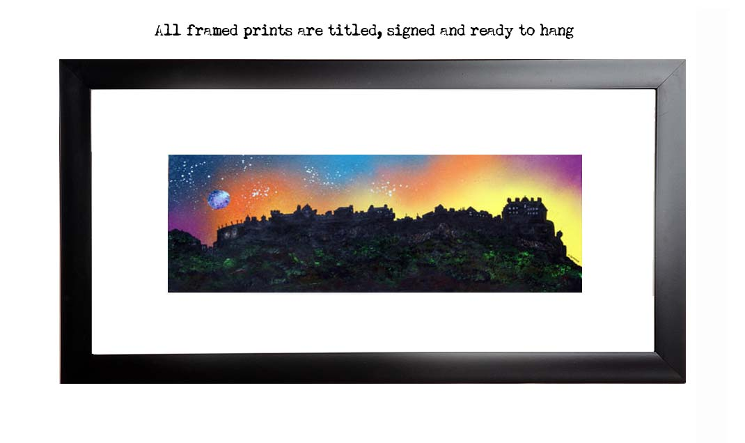 Framed print of Edinburgh Castle Dusk 2, Scotland.